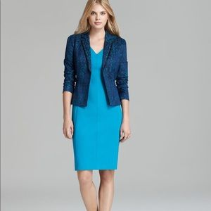 T Tahari Plum Jacket Blazer In Quiet Storm Aruba